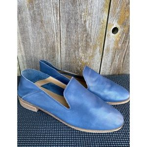 LUCKY BRAND cahill navy blue leather loafer flats